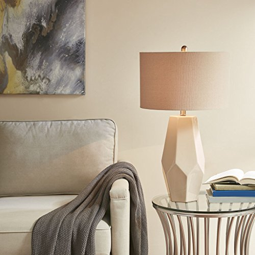Table Lamp1 Facted Table lamp:16L x 16W x 28HShade Size:16D x 16W x 10HBase Dimensions:8L x 8W x 18HCord Length:72WhiteMP153-0152