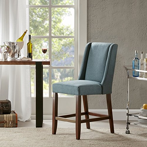 Wing Counter Stool1 Bar Stool:18W x 26.5D x 41.5HSeat:18W x 18.5D x 25.75HDistance Between Legs (Front to Front):14.75Distance Between Legs (Front to Back):21.5Distance Between Legs (Back to Back):15BlueMP104-0041