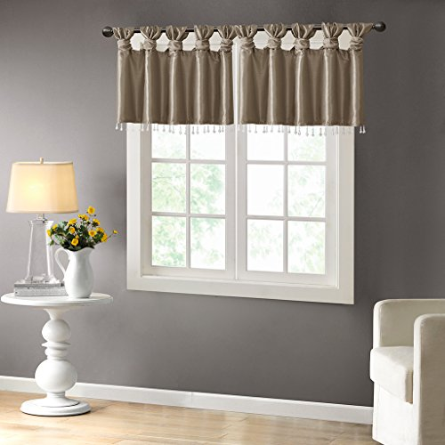 100 Polyester Twisted Tab Valance With Beads1 Valance:50W x 26LPewterMP41-4452
