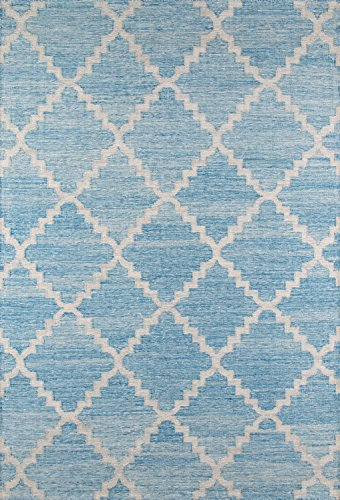 Momeni Rugs CARAVCAR-7BLU2030 Caravan Collection, 100% Wool Hand Woven Transitional Area Rug, 2' x 3', Blue