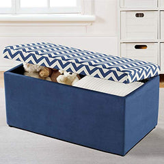 Emily Navy Chevron Toy Chest