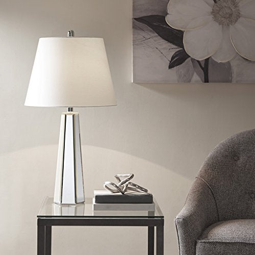 Table Lamp1 Table Lamp:16L x 16W x 30HBase Size:5.375L x 4.75 W x 20.5HShade Size:11D x 16D x 12HCord Length:72MirrorMP153-0156