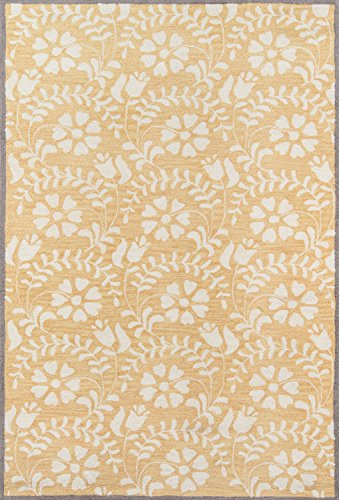 "Momeni Rugs HAVANHV-10YEL3959 Havana Collection Hand Tufted Contemporary Area Rug, 3'9"" x 5'9"", Yellow"