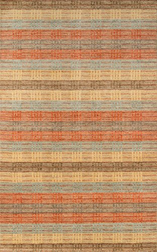"Momeni Rugs GRAMEGM-06MTI7696 Gramercy Collection, 100% Wool Hand Loomed Contemporary Area Rug, 7'6"" x 9'6"", Multicolor"