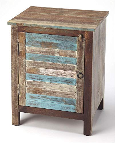 BUTLER RUSTIC SHUTTER PAINTED ACCENT CABINET