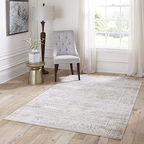 "Momeni Rugs JULIEJU-02BGE5076 Juliet Collection Transitional Area Rug, 5' x 7'6"", Beige"
