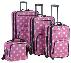 4PC PINK DOTS LUGGAGE SET