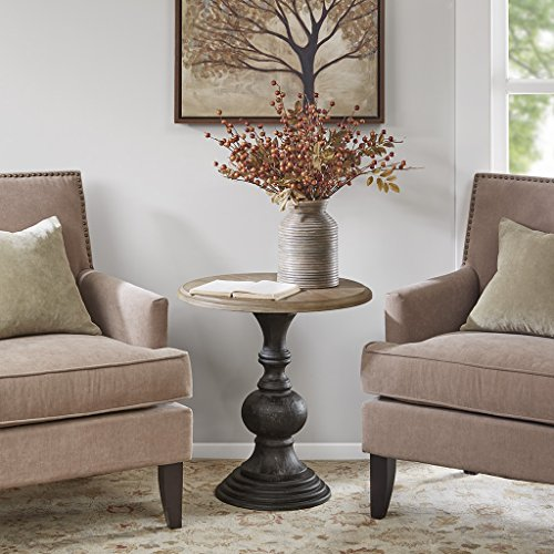 "Accent Table1 Accent Table:Dia.22"" x 23""H Table Top:Dia.22.25"" x 1""T Leg Upper:Dia.5.125"" Leg Bottom:Dia.13"" Leg Height:21.625"" Maximum Weight Capacity:85LBSNaturalMP120-0427"