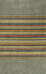 "Momeni Rugs GRAMEGM-25GRY7696 Gramercy Collection, 100% Wool Hand Loomed Contemporary Area Rug, 7'6"" x 9'6"", Grey"