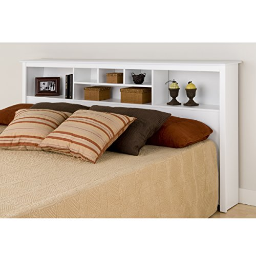 King Bookcase Headboard, White