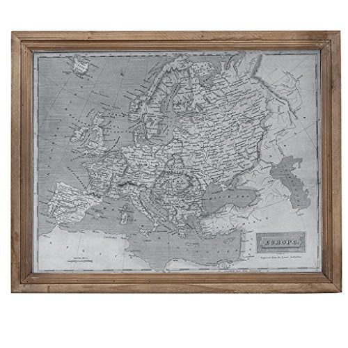 "Europe Wall Art1 Europe Wall Art:18.5""W x 1.77""D x 23.23""HGreyMP167-0241"