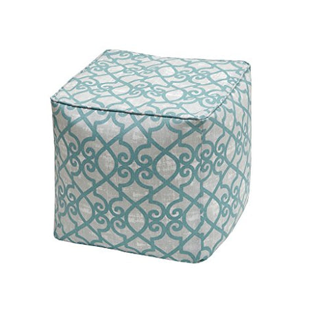"Fretwork 3M Scotchgard Outdoor Square Pouf1 Pouf:18x18x18""AquaMP31-2861"