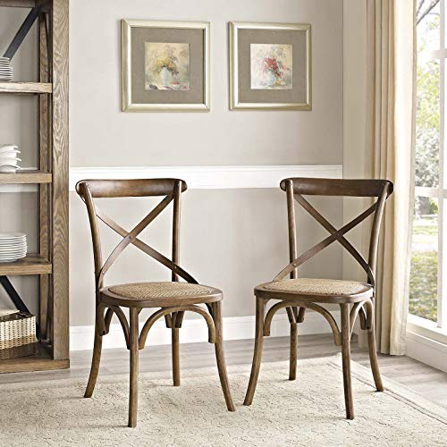 Gear Dining Side Chair Set of 2 Walnut - Walnut