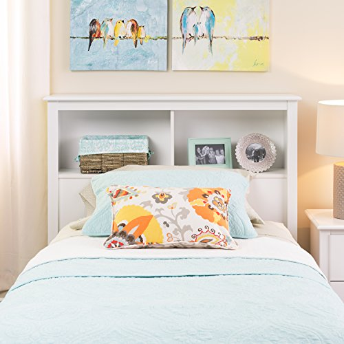 Twin Bookcase Headboard, White