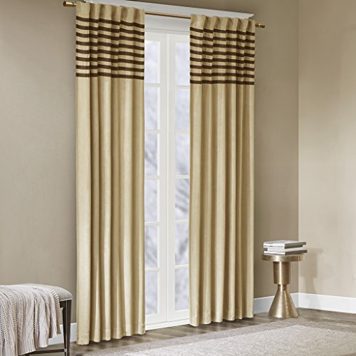 Window Curtain Pair2 Panels:42x84(2)BeigeWIN41-057