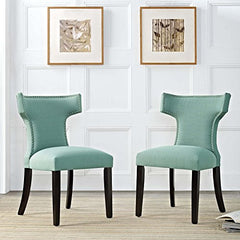 Curve Dining Side Chair Fabric Set of 2 - Laguna