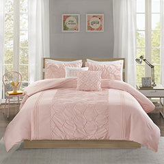 "Comforter Set1 Comforter:90""W x 90""L 2 Standard Shams:20""W x 26""L (2) 2 Decorative Pillows:12""W x 16""L/16""W x 16""LBlushID10-1284"