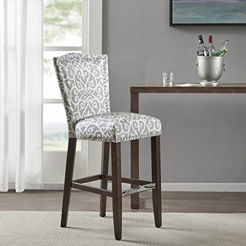 "30-Inch Bar Stool1 Bar Stool:21""W x 24.75""D x 45.25""H Seat:18.5""W x 17""D x 30""H Distance Between Legs (Front to Front):16.25"" Distance Between Legs (Front to Back):17.25"" Distance Between Legs (Back to Back):15""TaupeMP104-0065"
