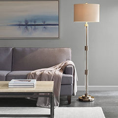 "Floor Lamp1 Ventura Floor lamp:16""Lx16""Wx61.5""H Shade Size:16""Dx16""Wx11""H Base Dimensions:10""Lx10""Wx50.5""H Cord Length:72""SilverMP154-0142"