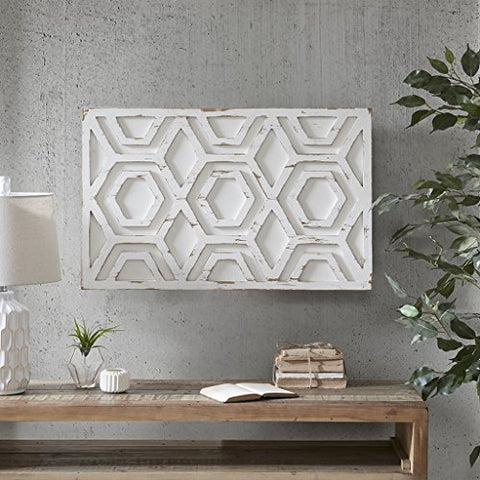 Wooden Wall Art with Pattern1 Wooden Wall Art with Pattern:19.68W x 0.98D x 31.5HWhiteII167-944