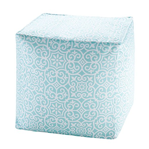 Printed Fret 3M Scotchgard Outdoor Pouf1 Pouf:18x18x18