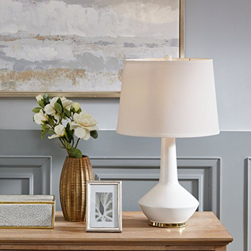 White Ceramic Table Lamp1 Table Lamp:14L x 14W x 23HBase Size:8.5L x 16.5HShade Size:Dia12 x Dia14 x 10HCord Length:60WhiteMP153-0167
