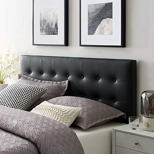 Emily King Upholstered Vinyl Headboard - Black