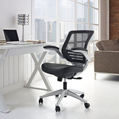 Edge Leather Office Chair - Black