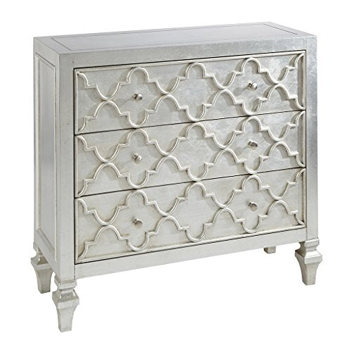 3-Drawer Chest1 Chest:36&quotW x 14&quotD x 34&quotHTop:36W x 14D x 1.625TLeg Size:2.75W x 6.25HDrawer Qty:3Drawer Interior Size:31.625W x 10D x 7TAntique SilverMP130-0157