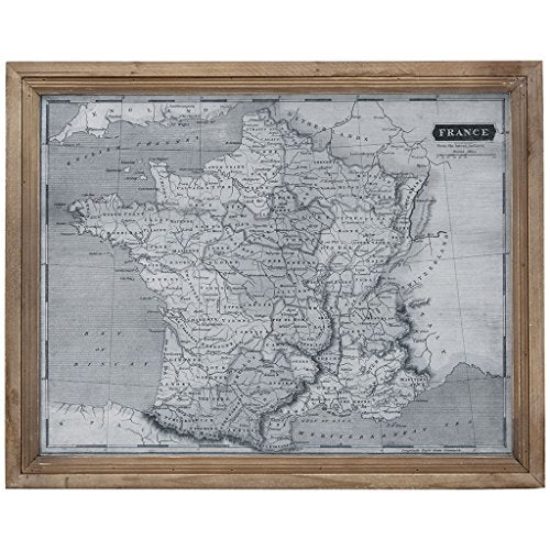 "Wall Art1 France Wall Art:18.5""W x 1.77""D x 23.23""HGreyMP167-0242"
