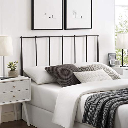Kiana King Metal Stainless Steel Headboard - Brown