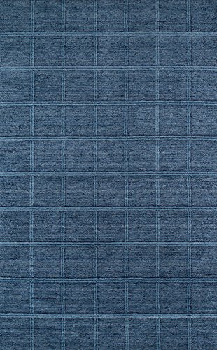"Momeni Rugs GRAMEGM-01DNM7696 Gramercy Collection, 100% Wool Hand Loomed Contemporary Area Rug, 7'6"" x 9'6"", Denim"