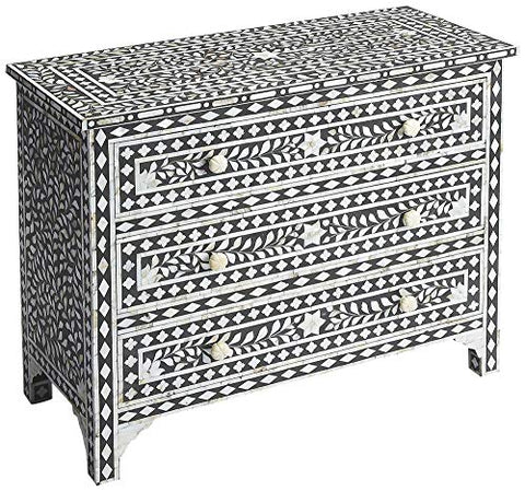 BUTLER VICTORIA MOTHER OF PEARL DRAWER CHEST
