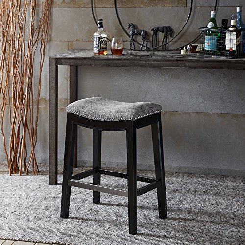 Saddle Counter Stool1 Counter Stool:20W x 14.37D x 27HFloor to Seat Height:27HWeight Capacity:250lbsGreyFPF20-0401