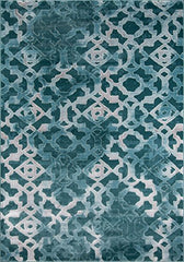 "Momeni Rugs MONTEMO-04TEL7696 Monterey Collection Contemporary Area Rug, 7'6"" x 9'6"", Teal"