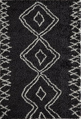 "Momeni Rugs MAYA0MAY-1BLK3B57 Maya Collection, Ultra Thick Pile Shag Area Rug, 3'11"" x 5'7"", Black"