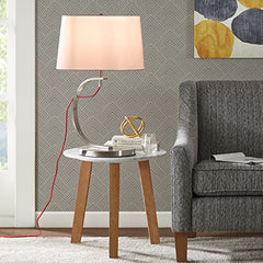 "Table Lamp1 Table Lamp:17""L x 17""W x 26.5""H Shade Size:15""W x 17""D x 10""H Cord Length:72""RedMP153-0004"
