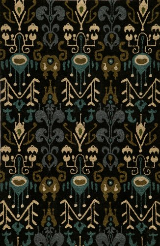 "Momeni Rugs HABITHB-02BLK3656 Habitat Collection, 100% Wool Hand Tufted Transitional Area Rug, 3'6"" x 5'6"", Black"