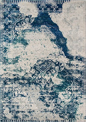 "Momeni Rugs LOFT0LO-09BLU3B57 Loft Collection, Contemporary Area Rug, 3'11"" x 5'7"", Blue"