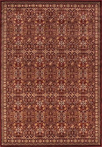 "Momeni Rugs BELMOBE-07RED5376 Belmont Collection, Traditional Area Rug, 5'3"" x 7'6"", Red"