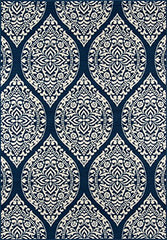 "Momeni Rugs BAJA0BAJ17NVY2346 Baja Collection Contemporary Indoor Outdoor Area Rug, 2'3"" x 4'6"", Navy Blue"