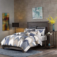"3 Piece Comforter Mini Set1 Comforter:104x92"" 2 Shams:20x36"" (2)NavyII10-553"