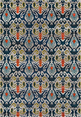 Momeni Rugs CASABCAS-2NVY2030 Casa Collection, Soft Blend Contemporary Area Rug, 2' x 3', Navy Blue