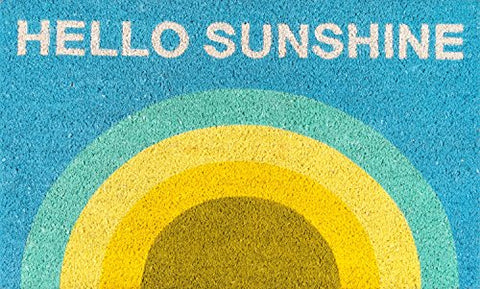Novogratz by Momeni ALOHAALO14MTI1626 Aloha Collection Hello Sunshine Door Mat` 16 x 26` Multicolor