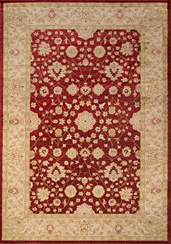 Momeni Rugs ZIEGLZE-01RED2030 Ziegler Collection, Traditional Area Rug, 2' x 3', Red
