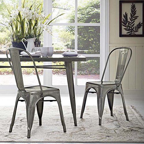 Promenade Dining Side Chair Set of 2 - Gunmetal