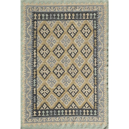 "Momeni Rugs CARAVCAR11GLD7696 Caravan Collection Hand Woven Transitional Area Rug, 7'6"" x 9'6"", Gold"