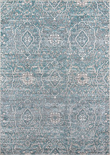 "Momeni Rugs BROOKBH-07BLU7A9A Brooklyn Heights Collection Area Rug, 7'10"" x 9'10"", Blue"