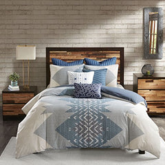 "3 Piece Duvet Cover Mini Set1 Duvet Cover:104x92"" 2 King Shams:20x36"" (2)BlueII12-764"