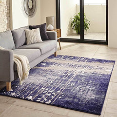 "Momeni Rugs MONTEMO-02BLU5076 Monterey Collection Contemporary Area Rug, 5'0"" x 7'6"", Blue"